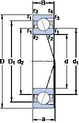 70 mm x 100 mm x 16 mm  SKF 71914 ACD/P4A angular contact ball bearings
