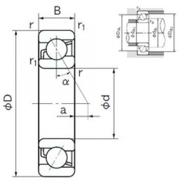 200 mm x 310 mm x 51 mm  NACHI 7040 angular contact ball bearings