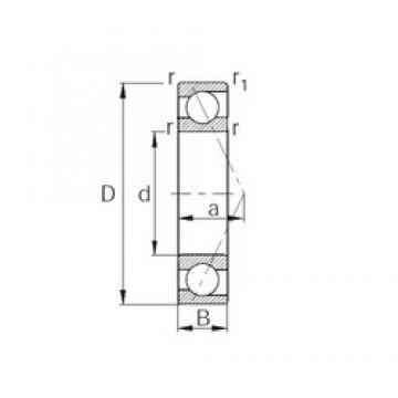 90 mm x 140 mm x 24 mm  CYSD 7018 angular contact ball bearings