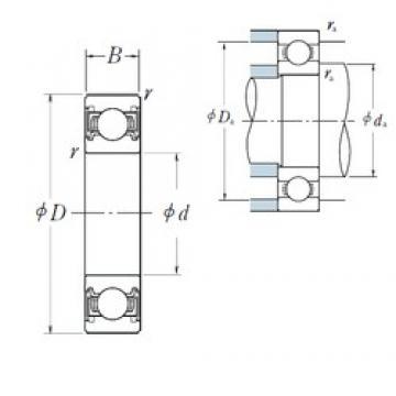 75 mm x 130 mm x 25 mm  NSK 6215VV deep groove ball bearings
