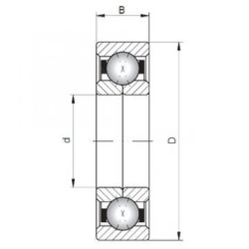 ISO QJ1040 angular contact ball bearings