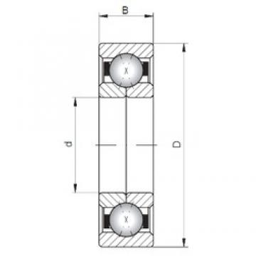 Loyal QJ1040 angular contact ball bearings