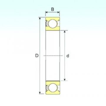 75 mm x 130 mm x 25 mm  ISB 6215-Z deep groove ball bearings