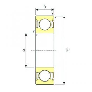 15 mm x 35 mm x 11 mm  ISB SS 6202-ZZ deep groove ball bearings