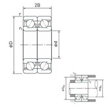 200 mm x 310 mm x 51 mm  NACHI 7040CDB angular contact ball bearings