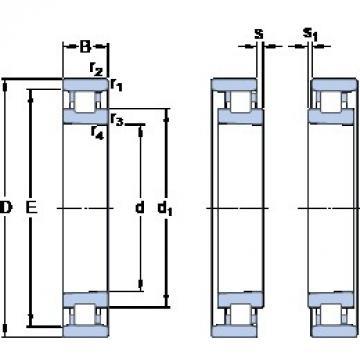 90 mm x 140 mm x 24 mm  SKF N 1018 KTNHA/SP cylindrical roller bearings