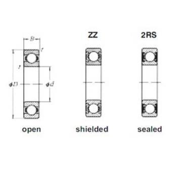90 mm x 140 mm x 24 mm  Loyal 6018ZZ deep groove ball bearings