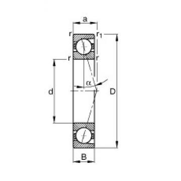 200 mm x 310 mm x 51 mm  FAG B7040-C-T-P4S angular contact ball bearings