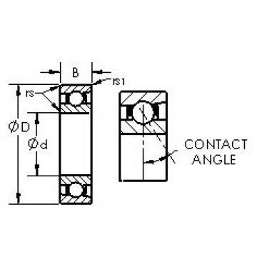 AST 7018C angular contact ball bearings