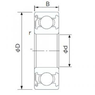 75 mm x 130 mm x 25 mm  CYSD 6215-Z deep groove ball bearings