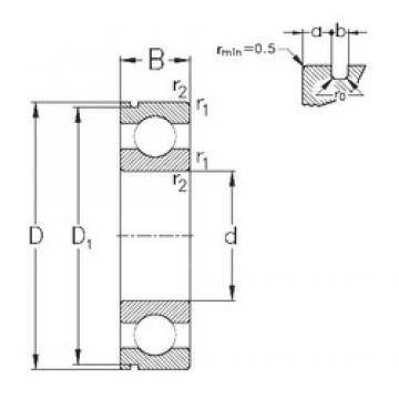 90 mm x 140 mm x 24 mm  NKE 6018-N deep groove ball bearings
