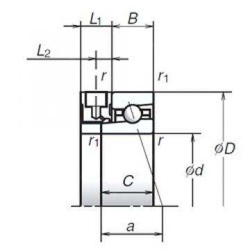 90 mm x 140 mm x 24 mm  NSK 90BER10XE angular contact ball bearings