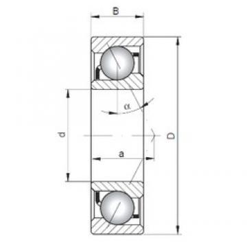 75 mm x 130 mm x 25 mm  ISO 7215 A angular contact ball bearings