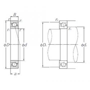 90 mm x 140 mm x 24 mm  NTN 5S-HSB018C angular contact ball bearings