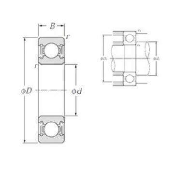 15 mm x 35 mm x 11 mm  NTN 6202LLB deep groove ball bearings