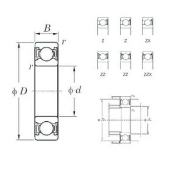 15 mm x 35 mm x 11 mm  KOYO 6202Z deep groove ball bearings
