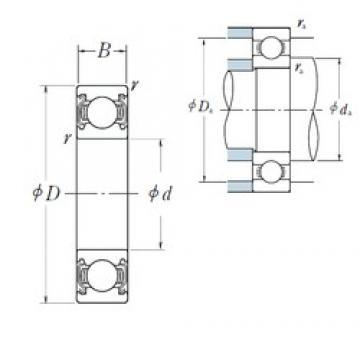 90 mm x 140 mm x 24 mm  NSK 6018ZZ deep groove ball bearings