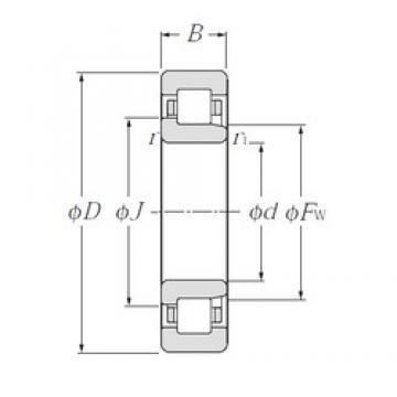 200 mm x 310 mm x 51 mm  CYSD NJ1040 cylindrical roller bearings