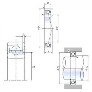 90 mm x 140 mm x 24 mm  NSK 90BER10S angular contact ball bearings