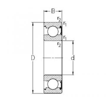 90 mm x 140 mm x 24 mm  NKE 6018-RSR deep groove ball bearings