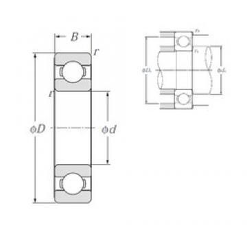 75 mm x 130 mm x 25 mm  NTN 6215 deep groove ball bearings