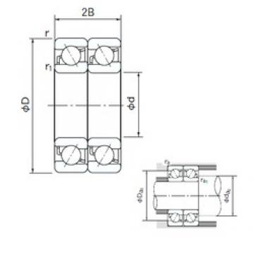 15 mm x 35 mm x 11 mm  NACHI 7202DT angular contact ball bearings