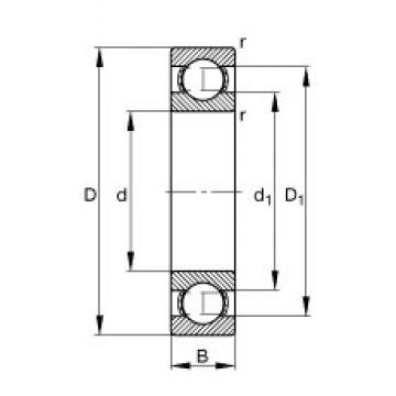 90 mm x 140 mm x 24 mm  FAG 6018 deep groove ball bearings