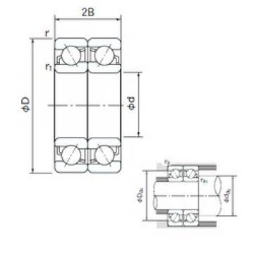 90 mm x 140 mm x 24 mm  NACHI 7018CDF angular contact ball bearings