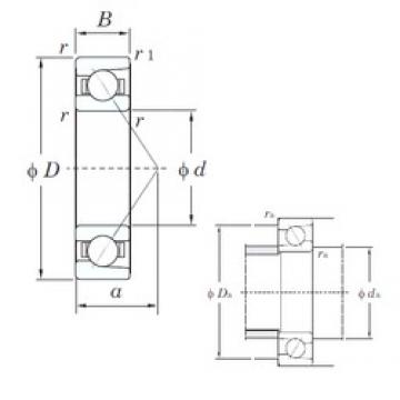 90 mm x 140 mm x 24 mm  KOYO 7018 angular contact ball bearings