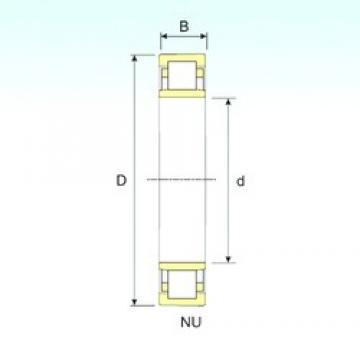 200 mm x 310 mm x 51 mm  ISB NU 1040 cylindrical roller bearings