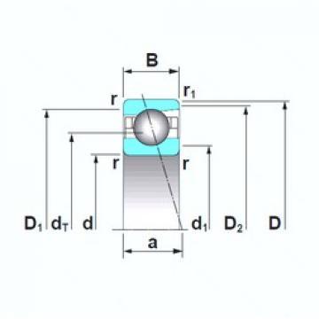 90 mm x 140 mm x 24 mm  NSK 7018CTRSU angular contact ball bearings