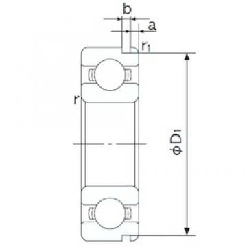 90 mm x 140 mm x 24 mm  NACHI 6018N deep groove ball bearings