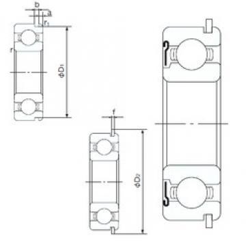 90 mm x 140 mm x 24 mm  NACHI 6018ZNR deep groove ball bearings