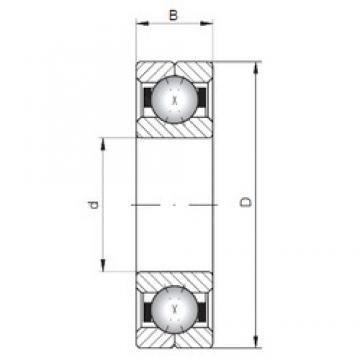 ISO Q1040 angular contact ball bearings
