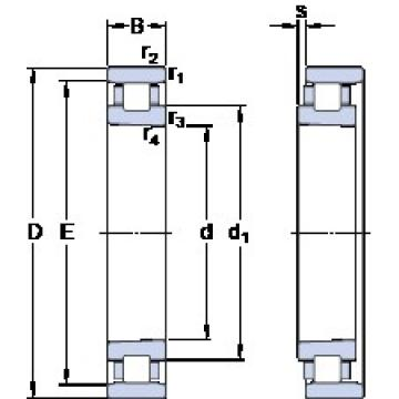 90 mm x 140 mm x 24 mm  SKF N 1018 KTN9/HC5SP cylindrical roller bearings