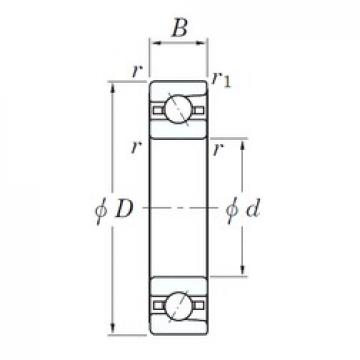 90 mm x 140 mm x 24 mm  KOYO 3NC HAR018C FT angular contact ball bearings