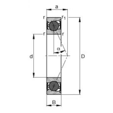 90 mm x 140 mm x 24 mm  FAG HCB7018-E-2RSD-T-P4S angular contact ball bearings