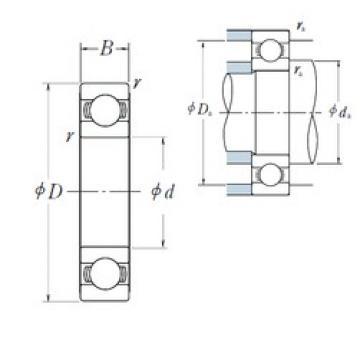 200 mm x 310 mm x 51 mm  NSK 6040 deep groove ball bearings