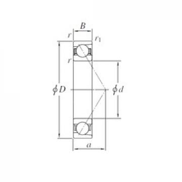 200 mm x 310 mm x 51 mm  KOYO 7040B angular contact ball bearings
