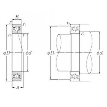 90 mm x 140 mm x 24 mm  NTN HSB018C angular contact ball bearings