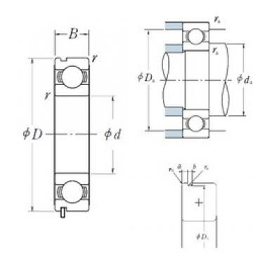 15 mm x 35 mm x 11 mm  NSK 6202N deep groove ball bearings