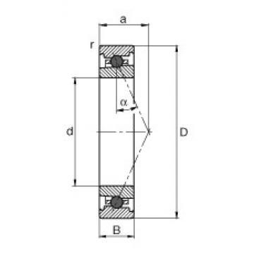 90 mm x 140 mm x 24 mm  FAG HC7018-E-T-P4S angular contact ball bearings