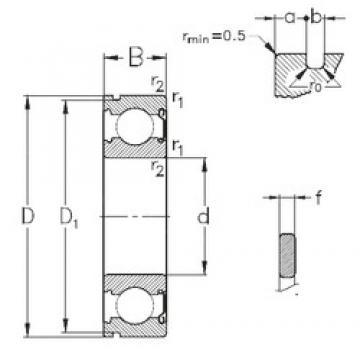 90 mm x 140 mm x 24 mm  NKE 6018-Z-NR deep groove ball bearings