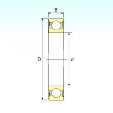 15 mm x 35 mm x 11 mm  ISB 6202-2RS deep groove ball bearings