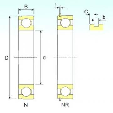 90 mm x 140 mm x 24 mm  ISB 6018 NR deep groove ball bearings