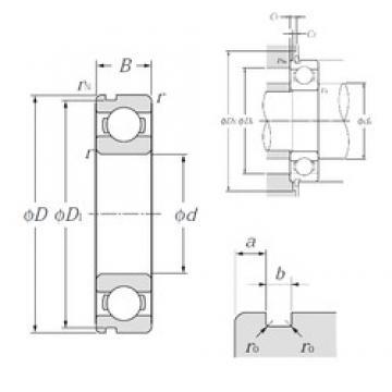 75 mm x 130 mm x 25 mm  NTN 6215N deep groove ball bearings
