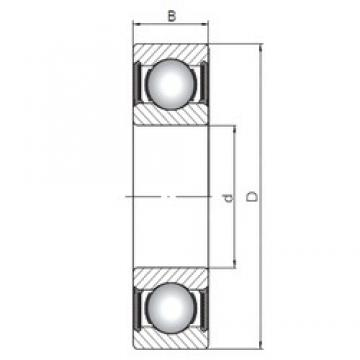 90 mm x 140 mm x 24 mm  ISO 6018-2RS deep groove ball bearings