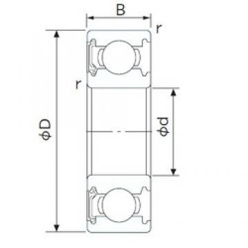 90 mm x 140 mm x 24 mm  CYSD 6018-RS deep groove ball bearings