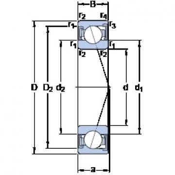 70 mm x 100 mm x 16 mm  SKF S71914 CD/P4A angular contact ball bearings