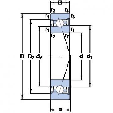 70 mm x 100 mm x 16 mm  SKF S71914 CB/P4A angular contact ball bearings